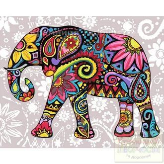 Картина по номерам: Яркий слон, 40х50см. (КНО2449)