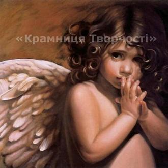 Картина по номерам 'Янголятко' 40*50см (КНО295)