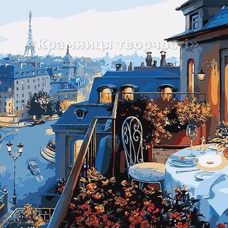 """Картина по номерам """"Вид на Париж"""", худ. Е.Лушпин, 40х50см. (MG1107, КН1107)"""