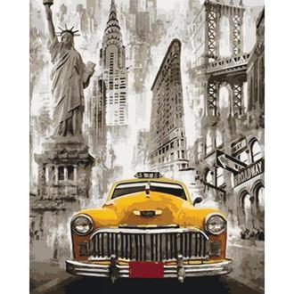 Картины по номерам Такси Нью-Йорка (КНО3506)