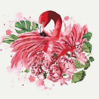 Картины по номерам Грациозный фламинго (КНО4042)