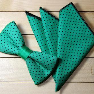 Галстук-бабочка + платок в пиджак (011115)