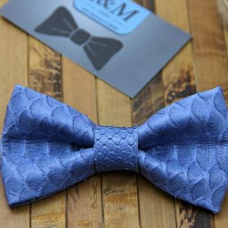 Галстук-бабочка из кожи питона (010855S) Blue
