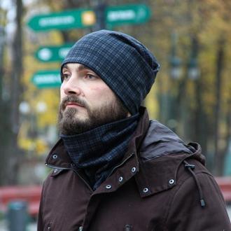Мужской комплект шапка+шарф бафф I&M - 090214