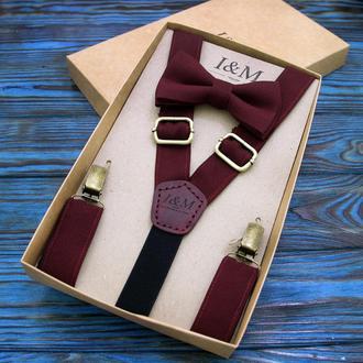 Набор I&M Craft галстук-бабочка и подтяжки для брюк (030204)