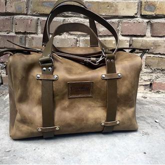 Дорожная кожаная сумка Спортивная