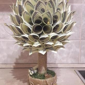 Денежное/Долларовое дерево, топиарий