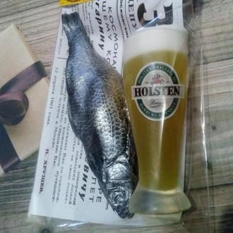Пивной набор мужу,папе,деду ( мыло пиво + мыло рыба)