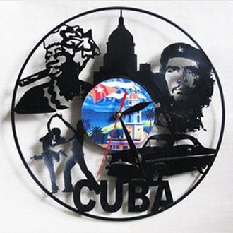 """Настенные часы из виниловой пластинки """"Cuba"""""""