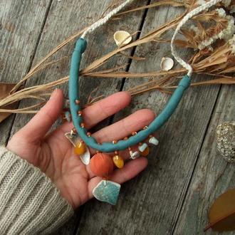 Мягкое шелковое ожерелье Речное