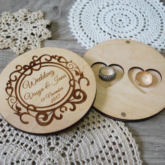 Деревяный держатель колец для свадебной церемонии подставка для колец