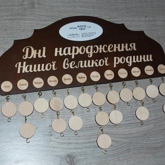 Семейный календарь, Сімейний календар з фото
