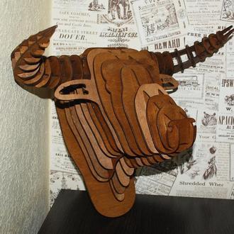 3D голова быка