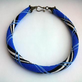 Жгут из бисера Burberry blue