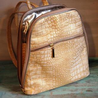 Женский городской рюкзак из натуральной кожи.