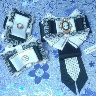 Бантики и галстук школьные