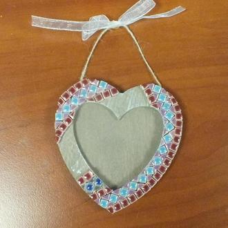 Сердечки из микромозаики(фоторамки)