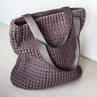 Шоколадная торбочка из трикотажной пряжи в наличии