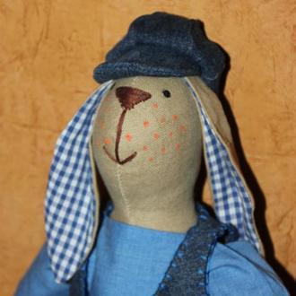 Заяц Тильда с веснушками, ручной работы