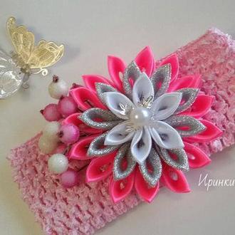 Шикарный цветок на повязке