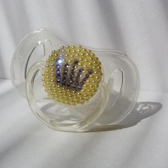 Пустышка Philips AVENT с инкрустацией стразами (кристаллами, жемчугом)