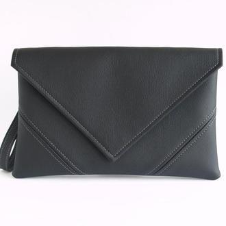 Черный клатч - Черная сумка через плечо