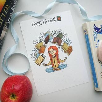 "Открытка-закладка для книгомага - ""BOOKITATION"""