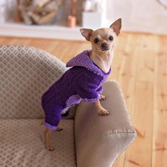 Комбинезон фиолет с капюшоном