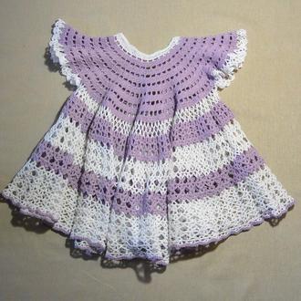 Платье детское ажурное из  хлопка