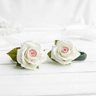 Резинки для волос Розы