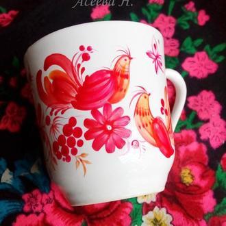 Чашка с петриковской росписью