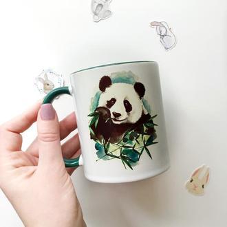 Чашка с авторским принтом «Панда»