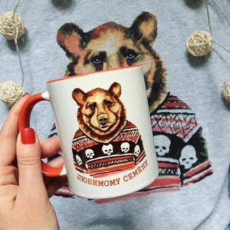 Чашка с принтом «Медведь»