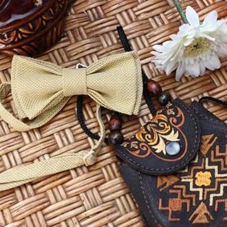 Галстук бабочка жёлтая/ краватку-метелик жовта