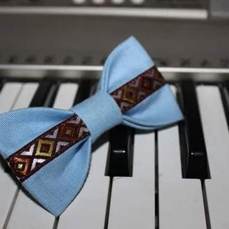 Краватка метелик блакітна