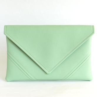 Ментоловый клатч через плечо / Маленькая сумочка