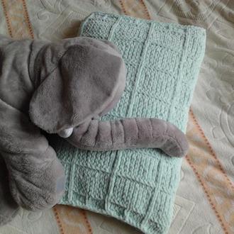 Вязанная наволочка на детскую подушку (Очень мягкая)