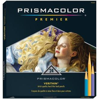 Набор твердых цветных карандашей 24 шт (PRISMACOLOR VERITHIN)