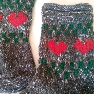 Носки в стиле Кантри из домашней пряжи