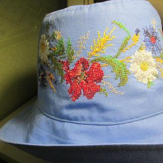 Шляпа в стиле вышиванки под джинсы по мотивам старинной вышивки