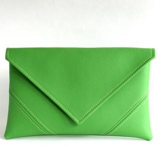 Ярко зеленый клатч на запястье / Зеленая сумка