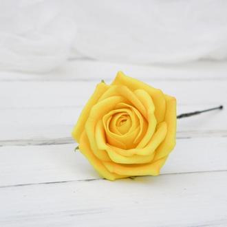 Шпилька Желтая рoза