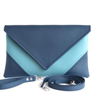 Сине голубой клатч / Синяя сумка через плечо