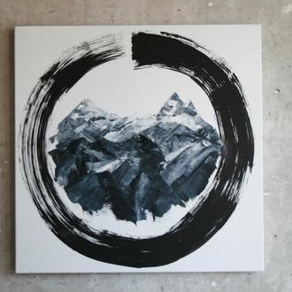 """Картина маслом """"Zen Mountain"""""""