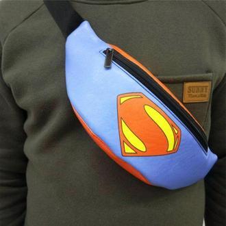 Бананка, поясная сумка, сумка на пояс, барыжка, Superman