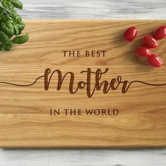 """Кухонная доска """"Mother"""", подарок маме"""