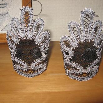 Перчатки митенки свадебные, на выпускной, для вечеринки, кружевные