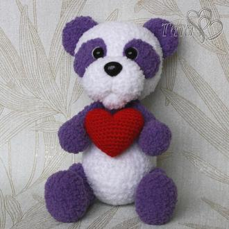 Мишка Панда  Медвежонок плюшевый крючком Амигуруми Интерьерная игровая игрушка Подарок