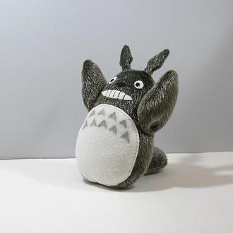 Лесной дух Тоторо Мягкая меховая игрушка хранитель леса Герой мультфильма аниме Серый зверь