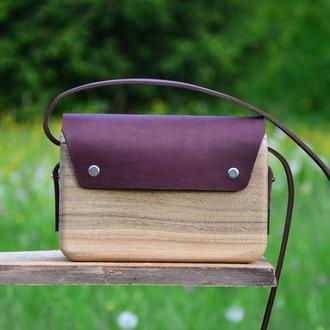 """Дерев'яна сумка """"Ожина"""""""